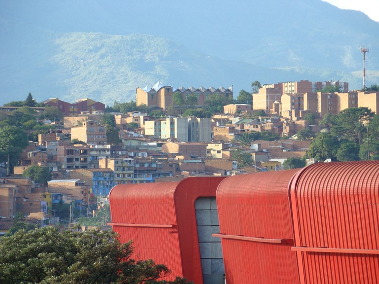 Parque Explora – seen in the foreground – is an essential stop in Medellin