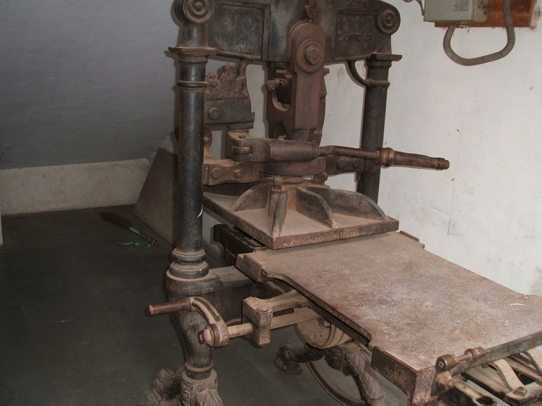 An Old Printing Press │