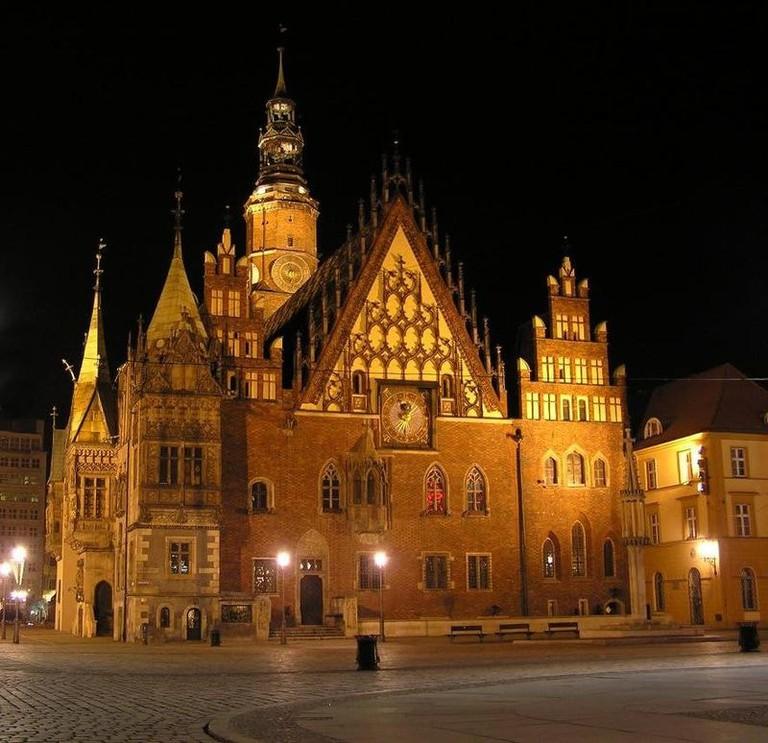 Wrocław Town Hall at Night