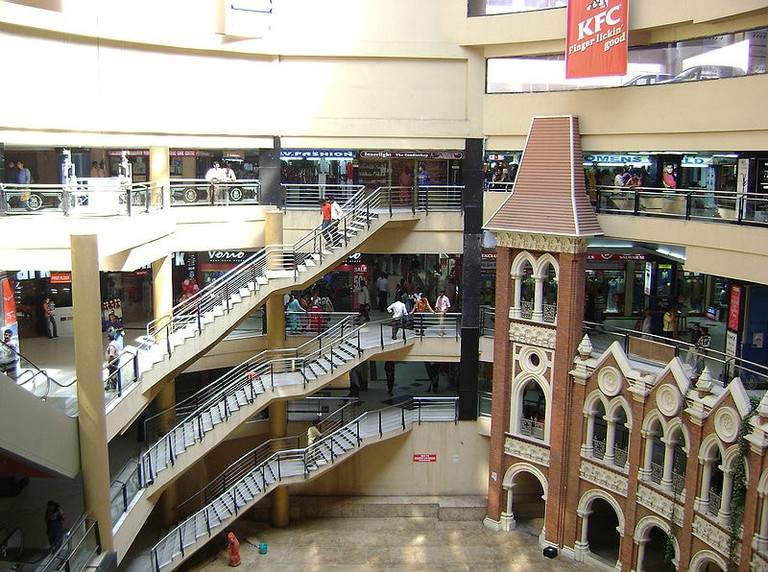 The atrium at Spencer Plaza, Chennai