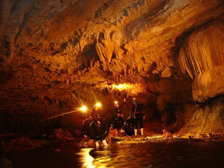 Rafting Inside the Waitomo Caves