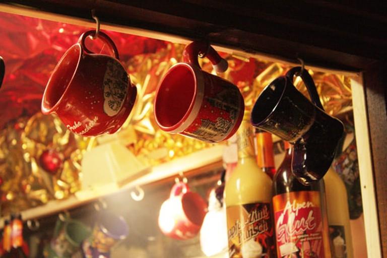 Glühwein mugs at Leipzig Christmas Market