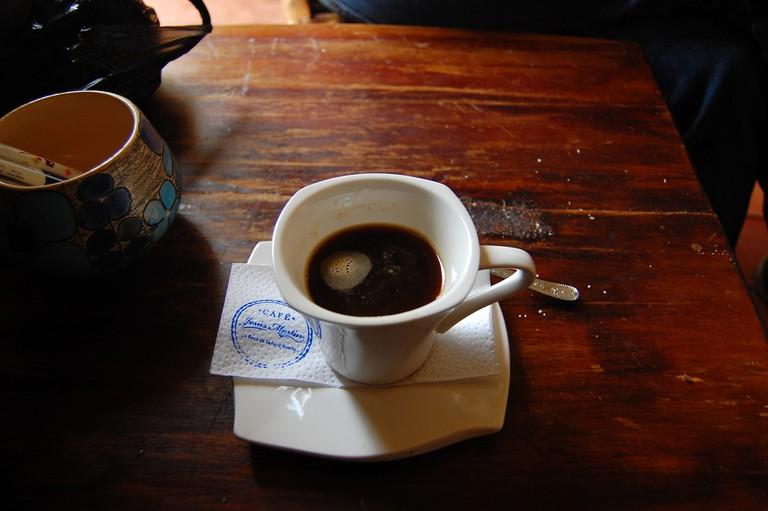 Coffee at Cafe Jesus Martin