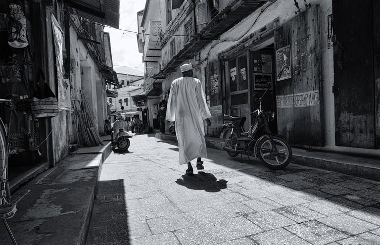 Man in traditional Omani dress in Zanzibar