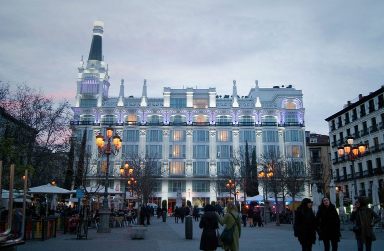 The ME Reina Victoria hotel, which has one of Madrid's most fashionable rooftop bars
