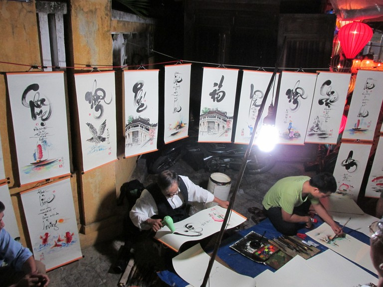 Artists at work in Hoi An