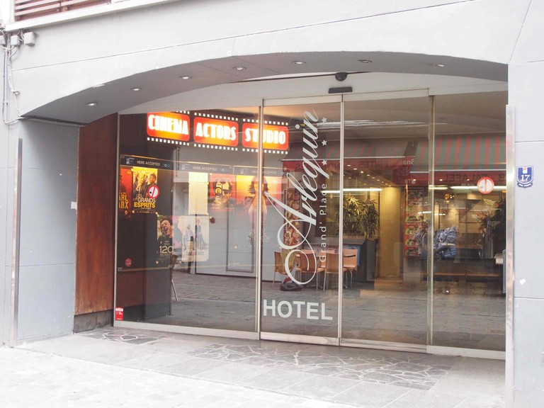 The front of the Hotel Arlequin doubles as the entryway to Brussels' most intimate cinema   © Nana Van de Poel