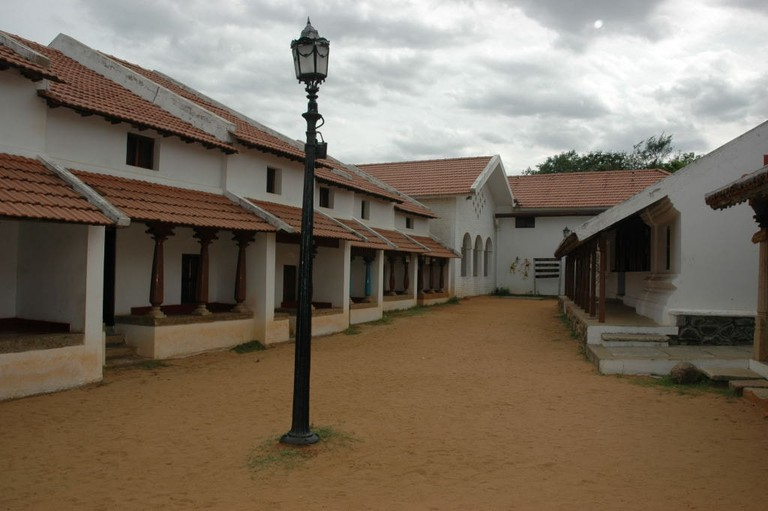 A replica of a typical Agraharam (residential quarters) in Tirunelveli at DakshinaChitra, Chennai