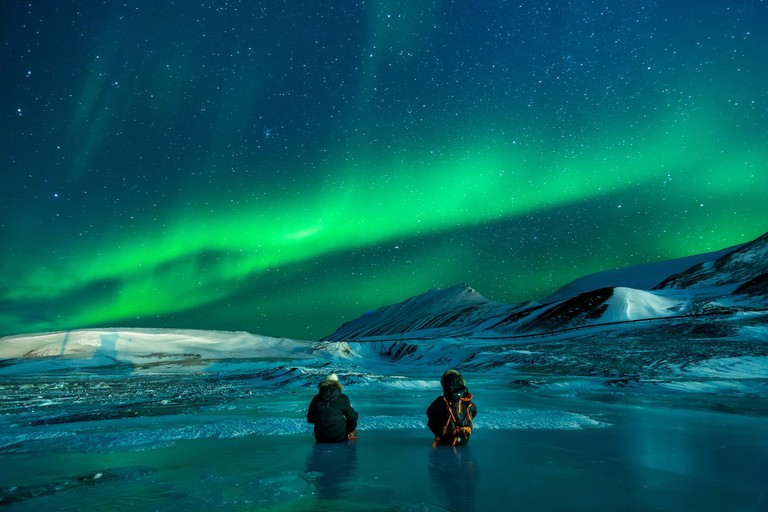 The Northern Lights above Svalbard