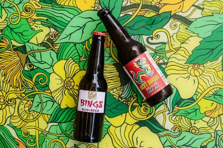 Bings house beer | Courtesy of Bings Bao and Beer