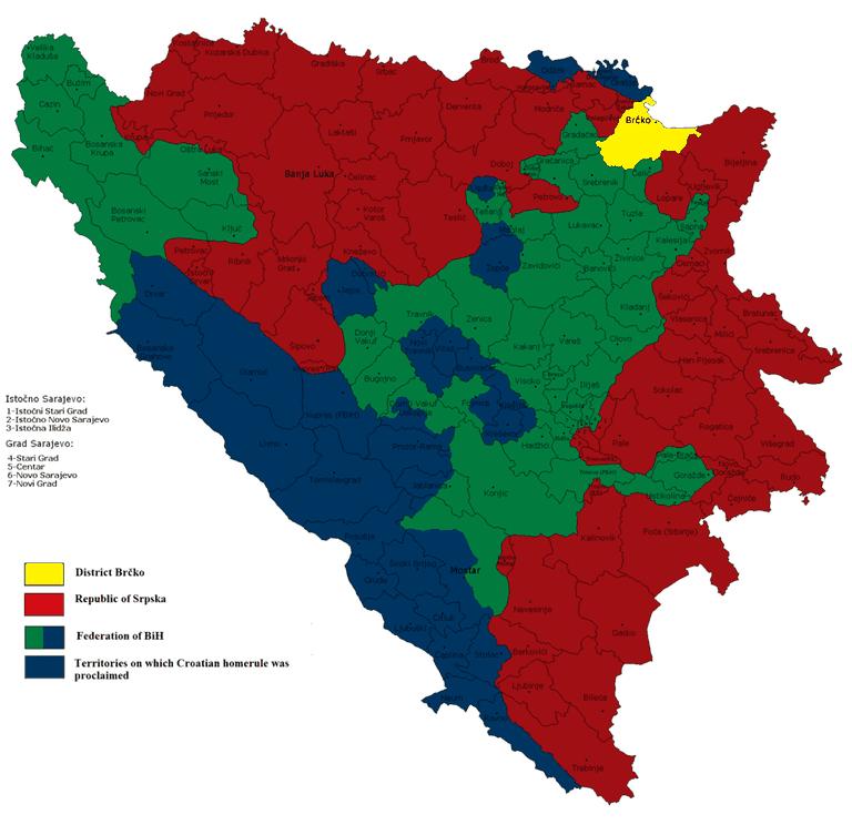 Bosnia is segregated along ethnic lines   © Ceha/WikiCommons