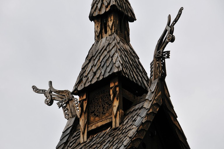 Detail of the Borgund stave church | © jerdam : Flickr