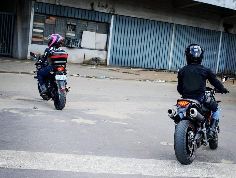 Bikers in Abeokuta