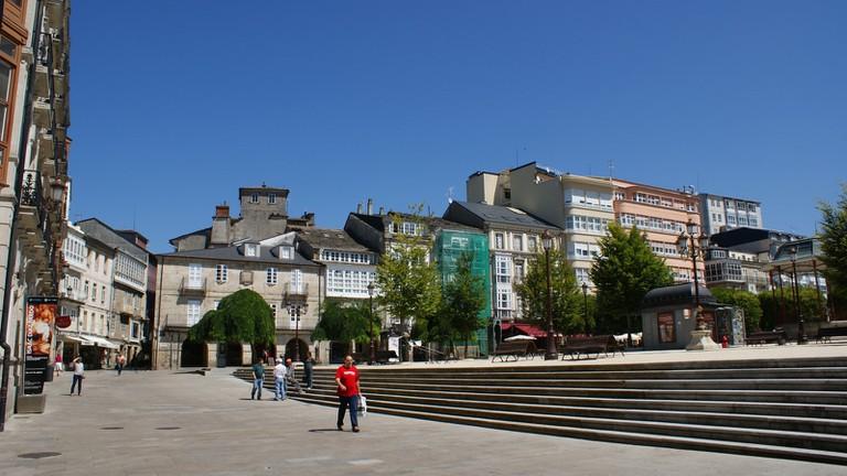 Praza Mayor Lugo, Galicia, Spain | ©AdriPozuelo / Wikimedia commons