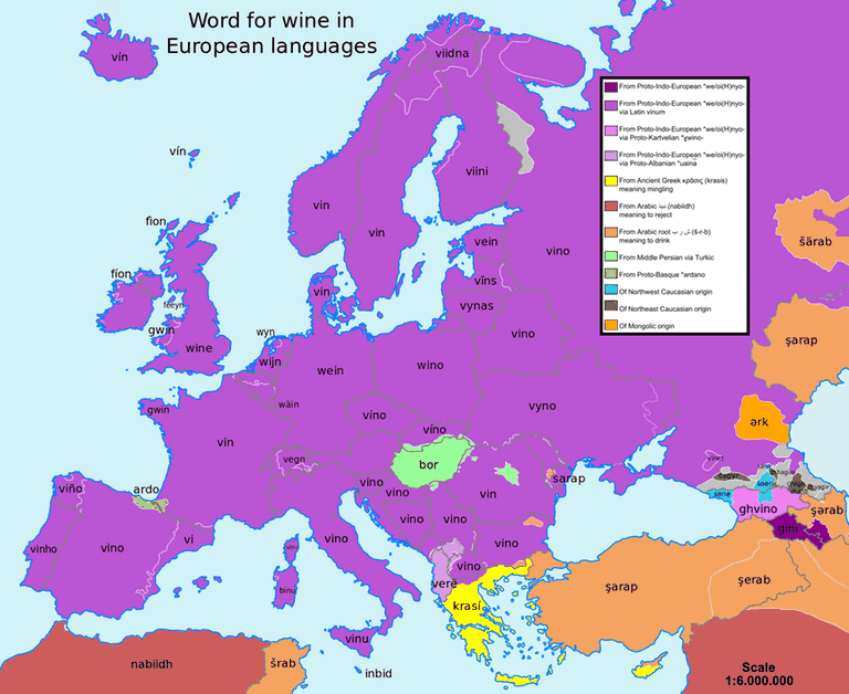 This map shows how language flows like wine from a bottle