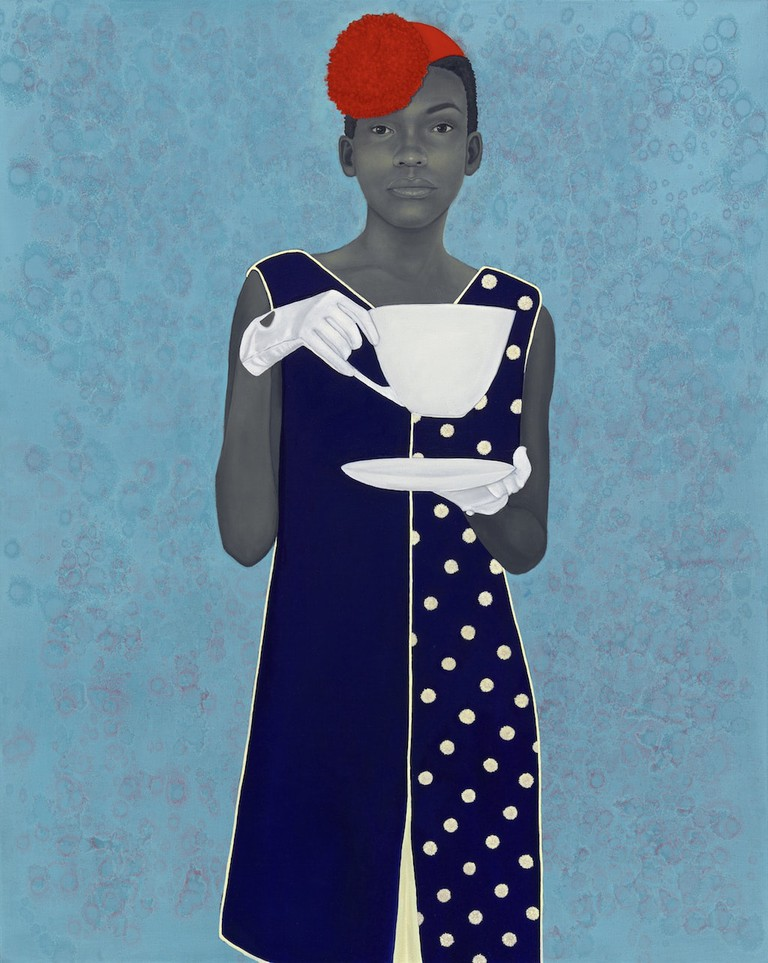 Miss Everything (Unsuppressed Deliverance) by Amy Sherald, oil on canvas, 2013. Frances and Burton Reifler © Amy Sherald