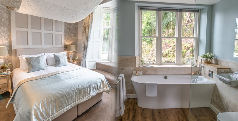 One of the luxurious bedrooms with en suite bathroom