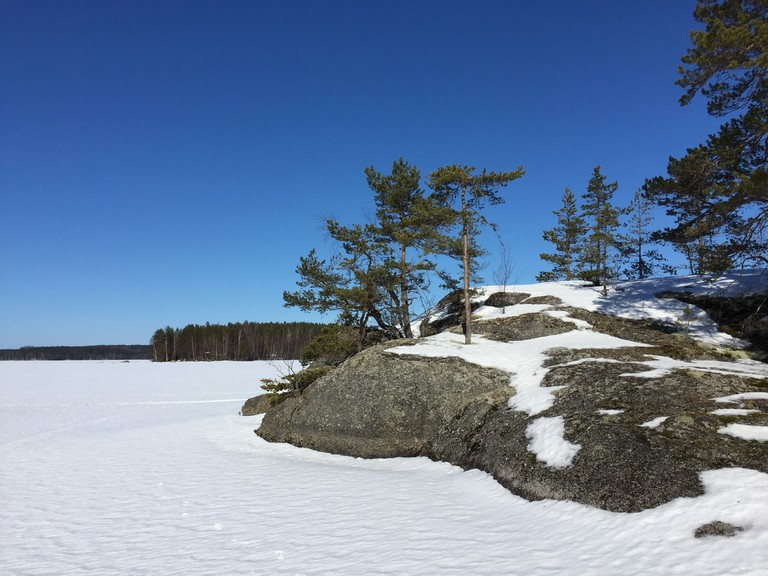 Frozen Finnish lake