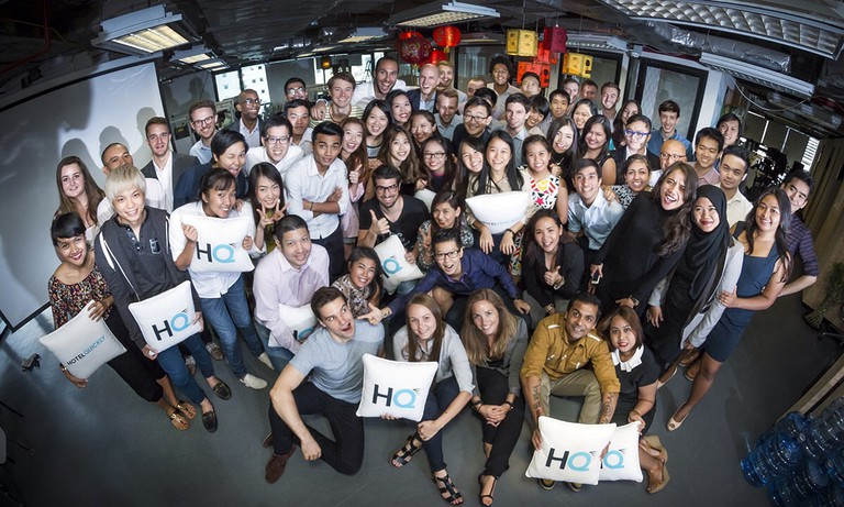 The HotelQuickly team in their Hong Kong office