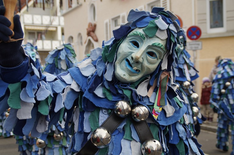 Costume parade during Germany carnival