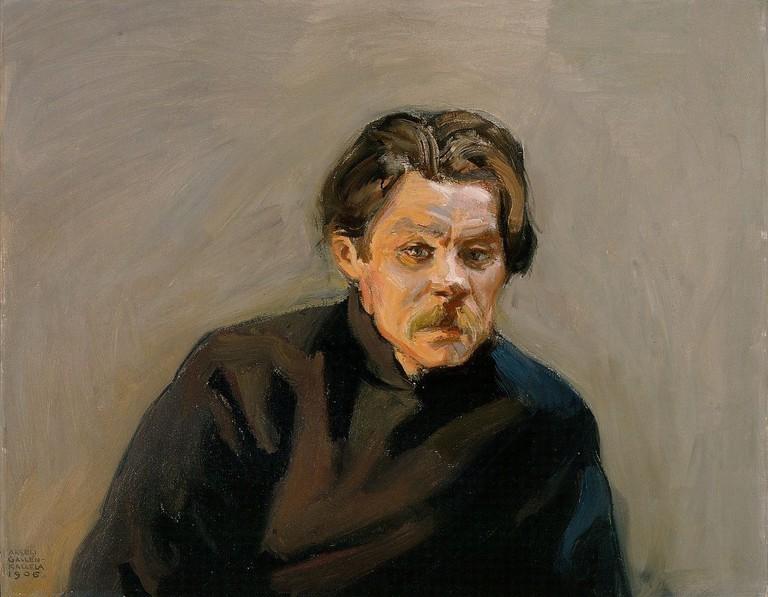 Akseli Gallen-Kallela, Portrait of Maksim Gorky (1906)