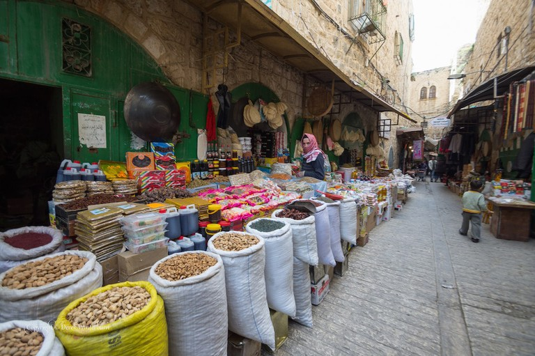 A market in Hebron
