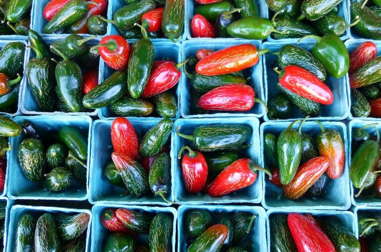 Hot Serrano chiles │