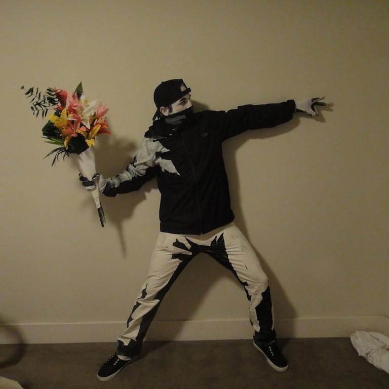 Banksy Rage, Flower Thrower