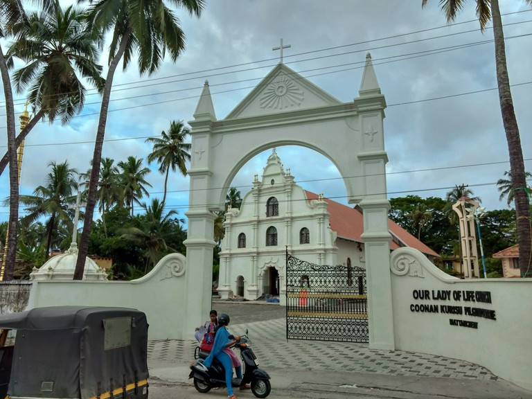 The Portuguese, Dutch, and British built many churches in Kochi
