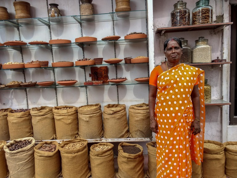 The port of Kochi has been used for trading spices since centuries