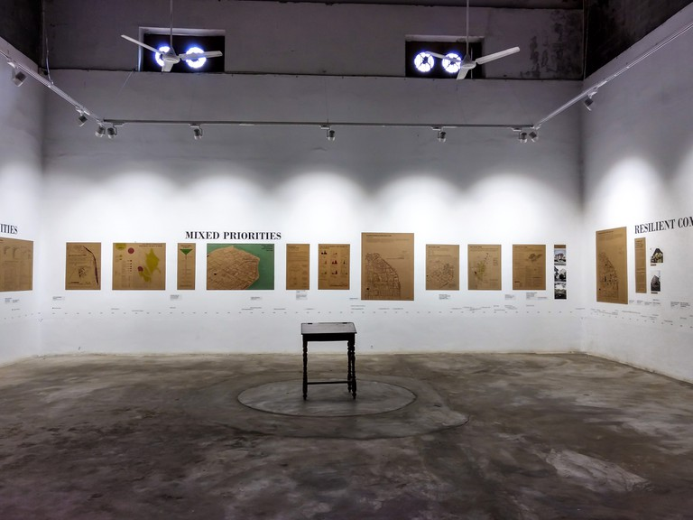 A former cashew nut warehouse turned into art gallery