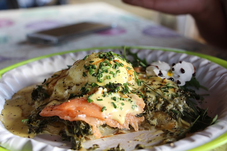 Try a breakfast of poached eggs and salmon at the Shongweni Farmer's Market
