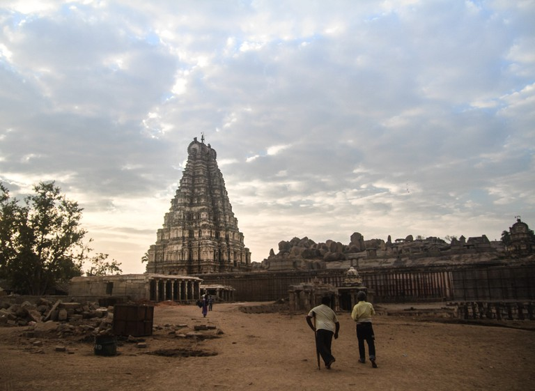 The rock-cut temples and monuments in Hampi