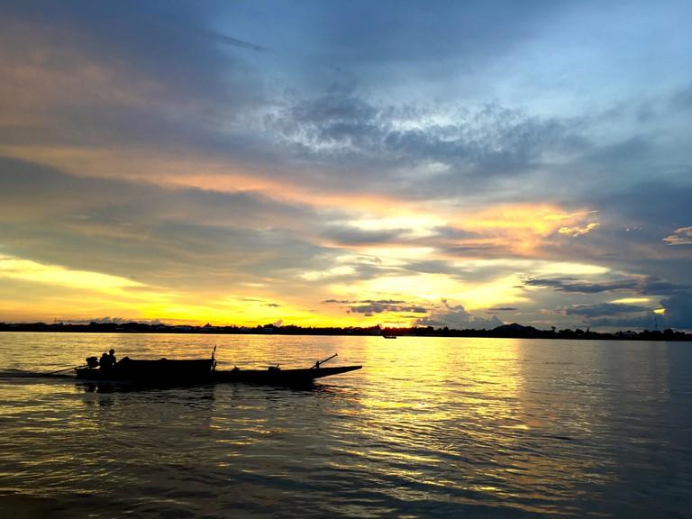 Sunset, Laos