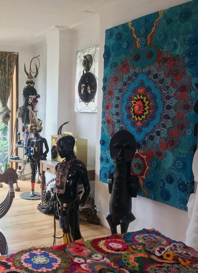 Zak Ové's studio