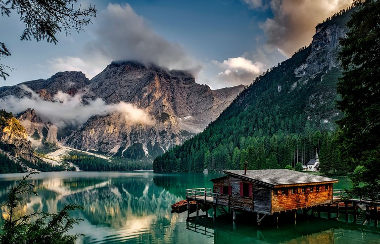 Lake Prags in the Dolomites