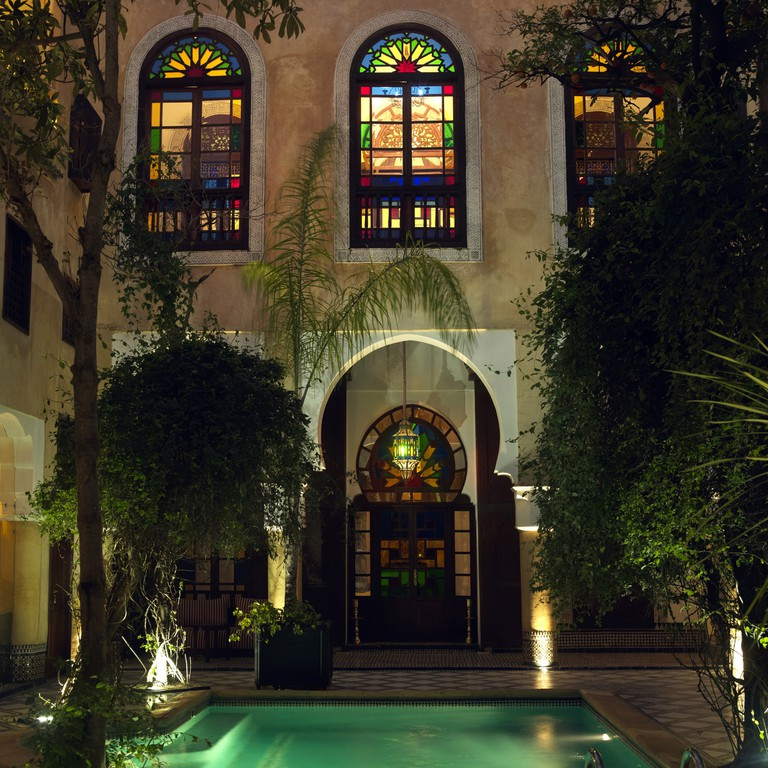 Exterior views of the lovely riad