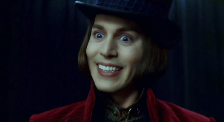 Johnny Depp in Charlie and the Chocolate Factory