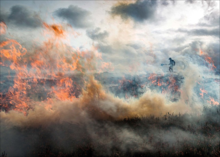 Jon_Brook, Burning the Moor on Burn Moor, Lancashire_Noth Yorkshire Border, Landscape Photographer of the Year 2017