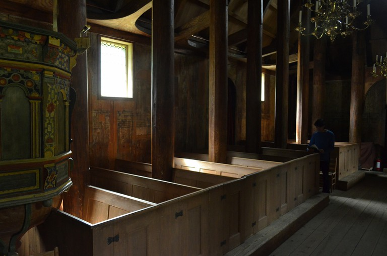 Kaupanger stave church interior | © Nick : Flickr