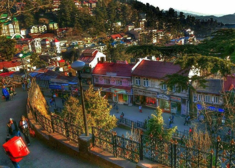 Romantic View of the Mall Road, Shimla