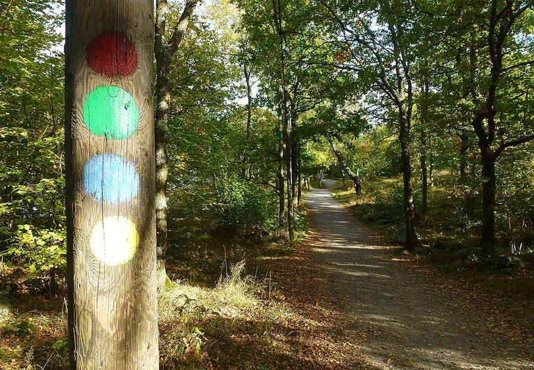 There are plenty of marked trails at Hellasgården / Photo courtesy of Wikipedia Commons