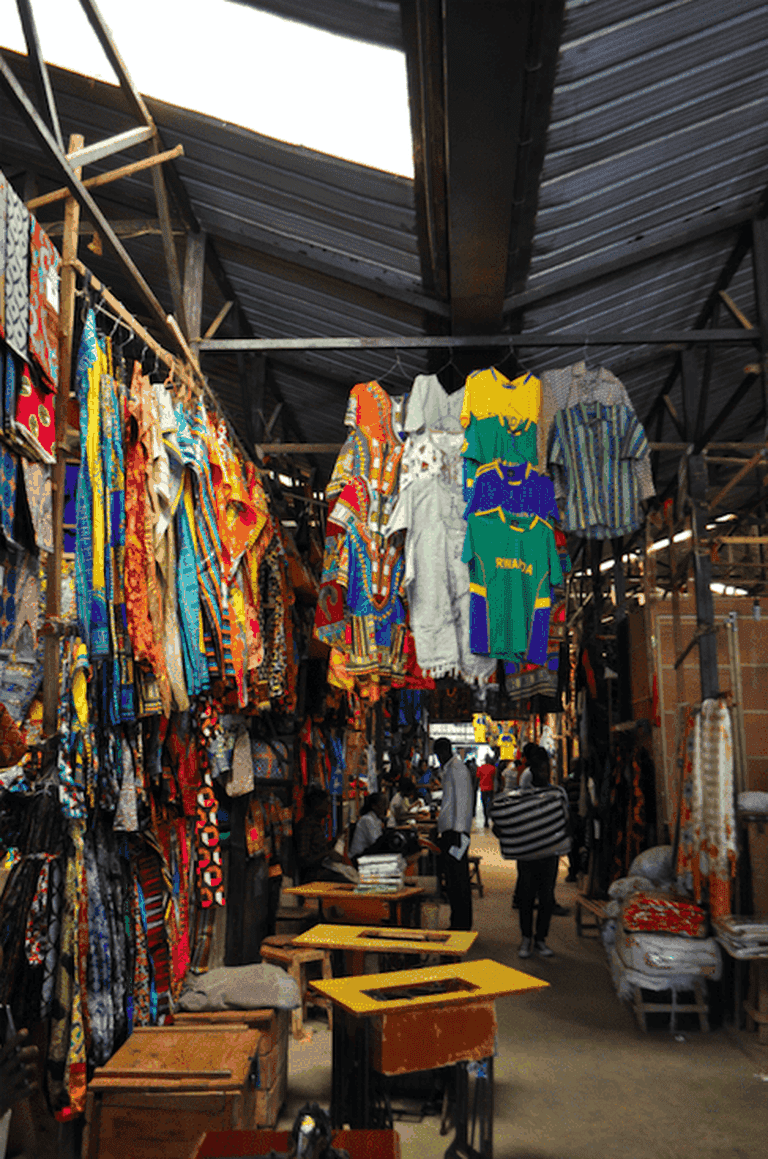 Narrow corridors of Kimironko Market | Courtesy of Leah Feiger