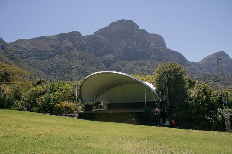 The natural amphitheatre is the perfect setting for lively summer sunset concerts