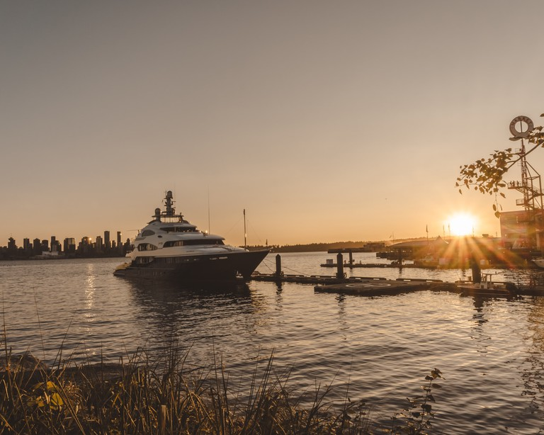 Summer sunset from Lonsdale Quay
