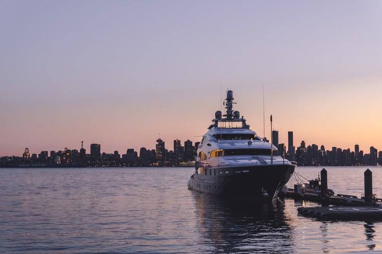 North Van sunset looking towards Vancouver's skyline