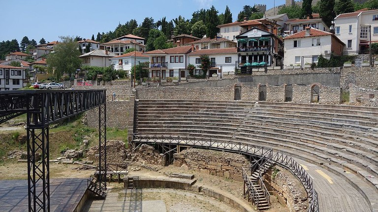 A Roman Theatre at Lake Ohrid, Macedonia | © Raso/WikiCommons