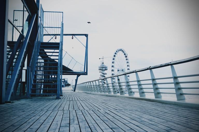 Scheveningen pier is located nearby the market