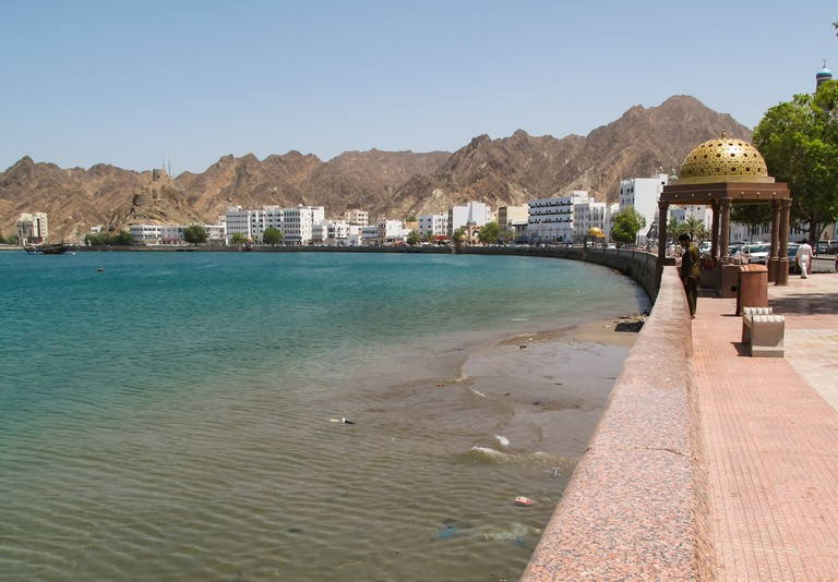 The corniche in Muscat