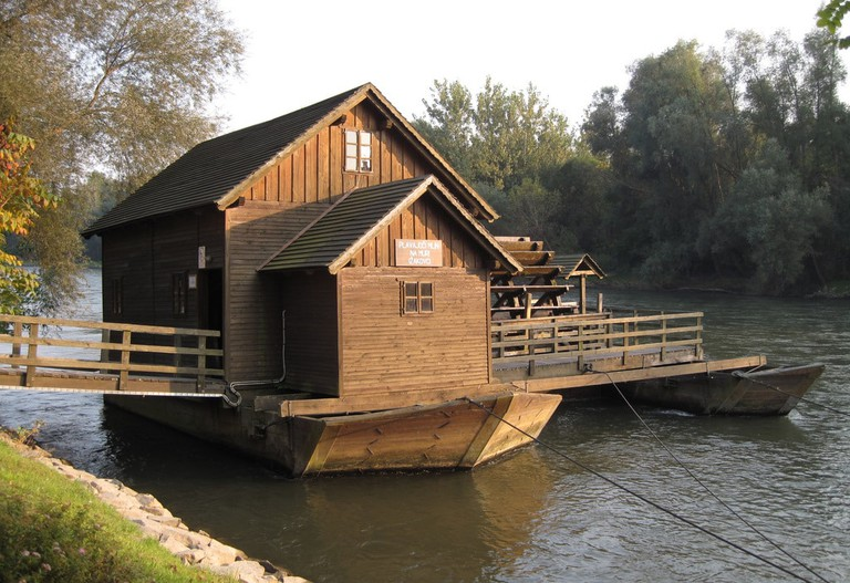The Floating Mill on Mura River